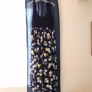 Torrid Dress Size 1 Tank Sheer Bottom MAXI
